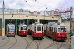 4 Wiener Linien Trams